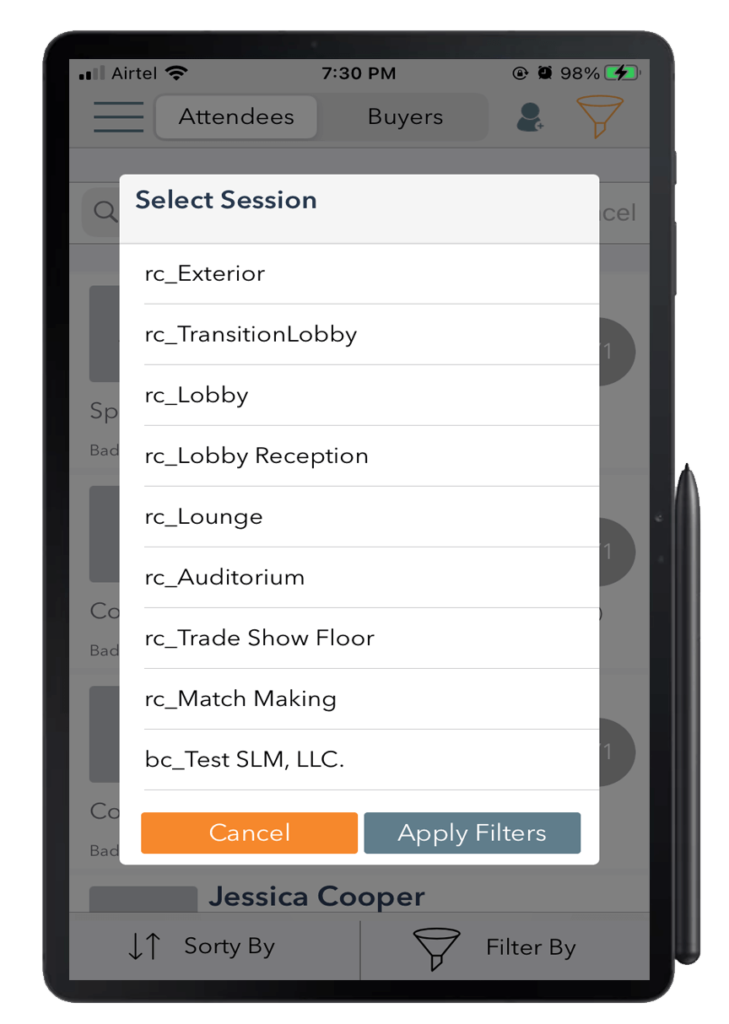 Eventdex app for android device