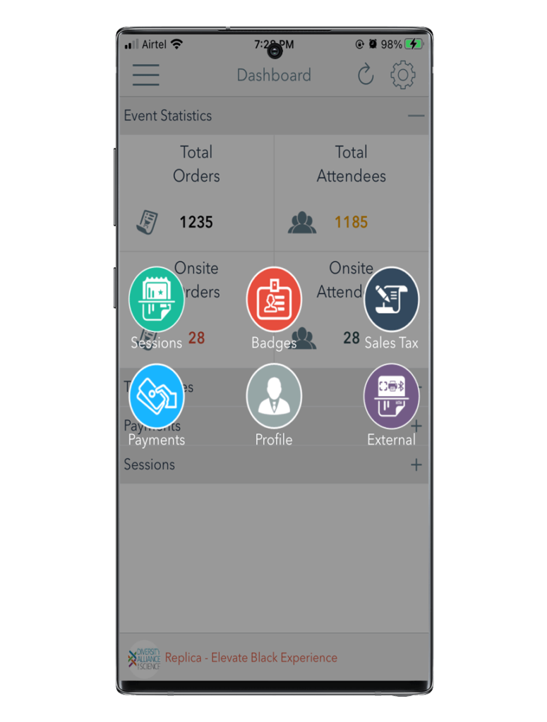 Event Management Software for android phone